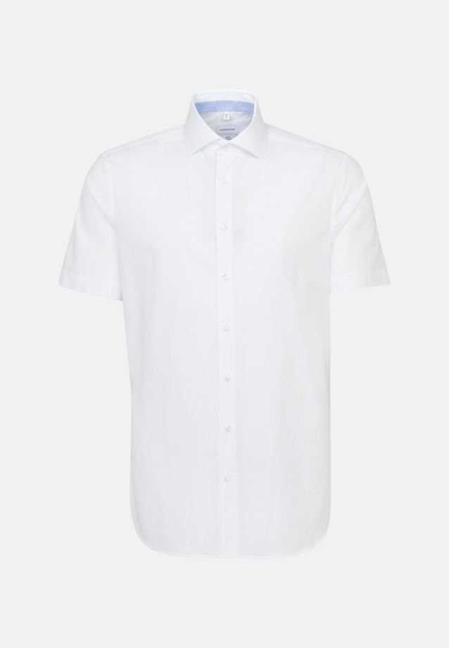 Easy-iron Poplin Short sleeve Business Shirt in Slim with Kent-Collar in White |  Seidensticker Onlineshop
