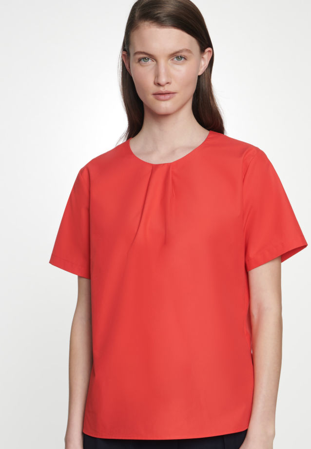 Short sleeve Poplin Shirt Blouse made of 100% Cotton in Red |  Seidensticker Onlineshop