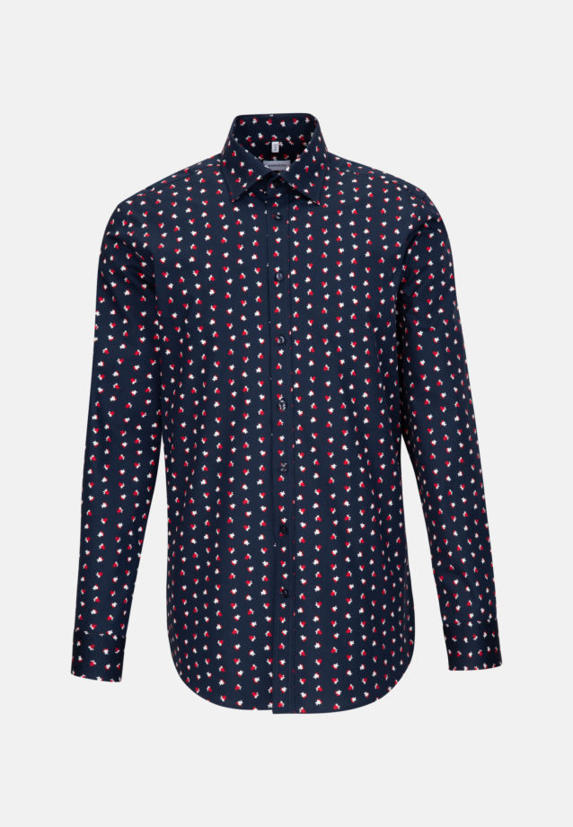 Easy-iron Poplin Business Shirt in Regular with Covered-Button-Down-Collar in Red |  Seidensticker Onlineshop