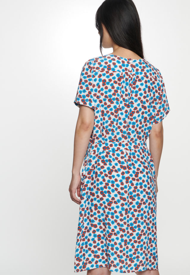 Crepe Midi Dress made of 100% Viscose in Medium blue |  Seidensticker Onlineshop