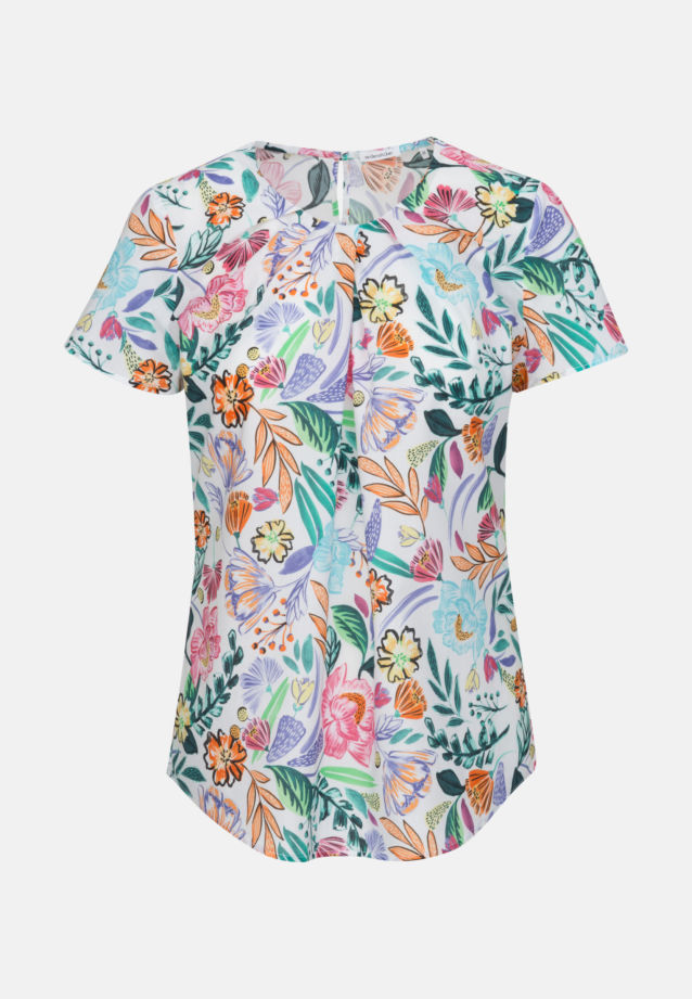 Short sleeve Voile Shirt Blouse made of 100% Cotton in Ecru |  Seidensticker Onlineshop