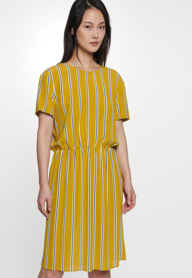 Crepe Midi Dress made of 100% Viscose in Yellow |  Seidensticker Onlineshop
