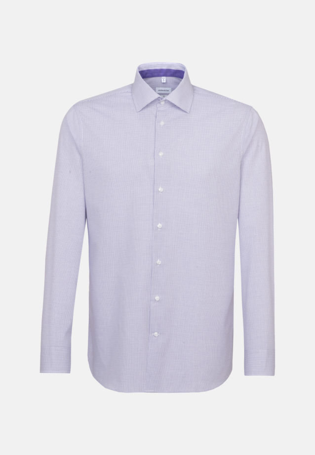 Non-iron Poplin Business Shirt in Slim with Kent-Collar in Purple |  Seidensticker Onlineshop