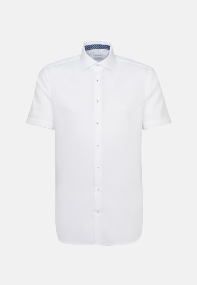 Non-iron Twill Short sleeve Business Shirt in Shaped with Kent-Collar in White |  Seidensticker Onlineshop
