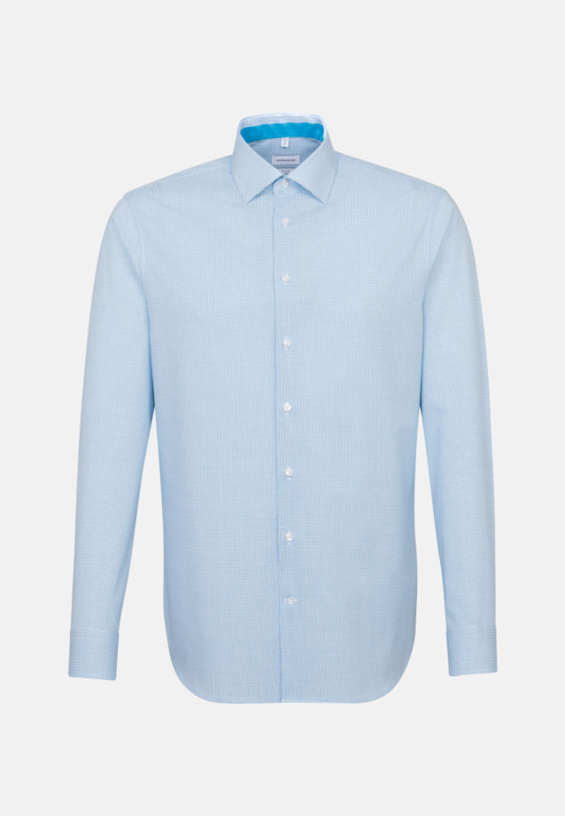 Non-iron Poplin Business Shirt in X-Slim with Kent-Collar in Turquoise |  Seidensticker Onlineshop