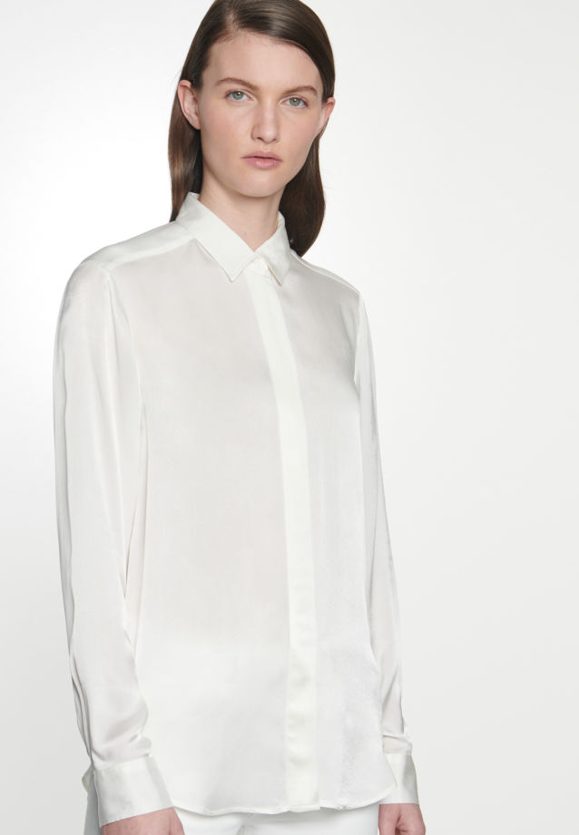 Satin Shirt Blouse made of 100% Viscose in Ecru |  Seidensticker Onlineshop