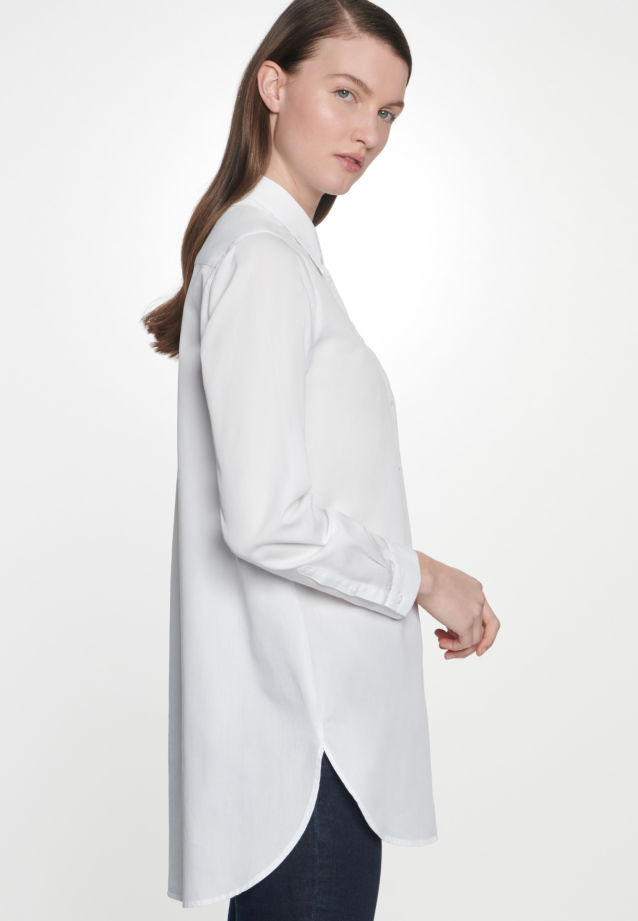 Twill Long Blouse made of 100% Cotton in White |  Seidensticker Onlineshop
