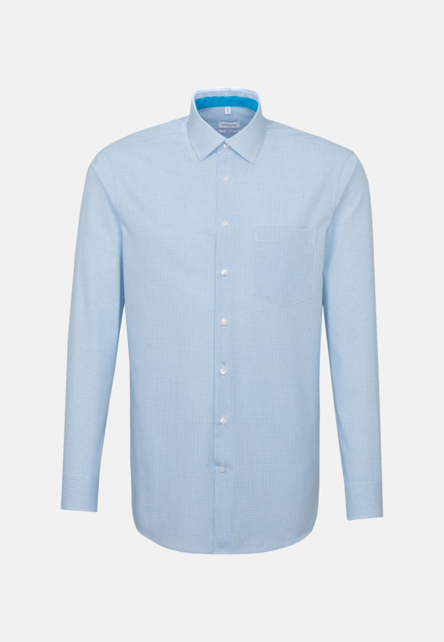 Non-iron Poplin Business Shirt in Regular with Kent-Collar in Turquoise |  Seidensticker Onlineshop