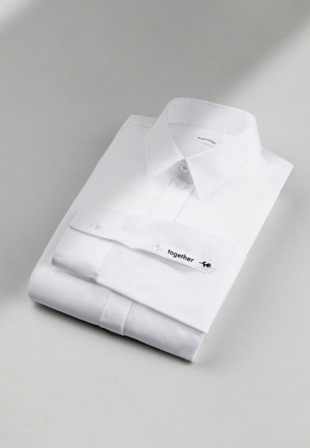 "Non-iron ""together"" Signature-Shirt made of 100% Cotton in White 