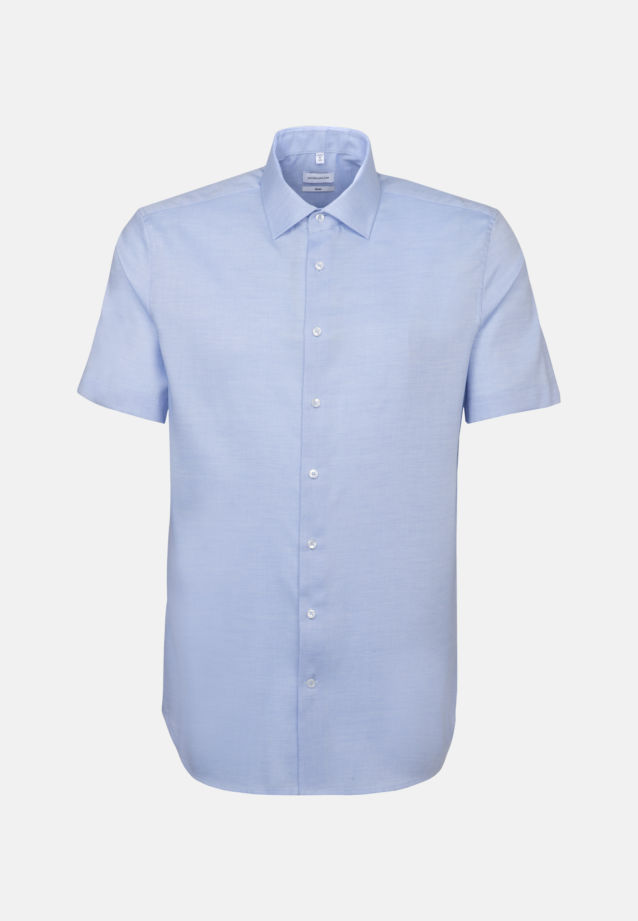 Non-iron Structure Short sleeve Business Shirt in Slim with Kent-Collar in Light blue |  Seidensticker Onlineshop