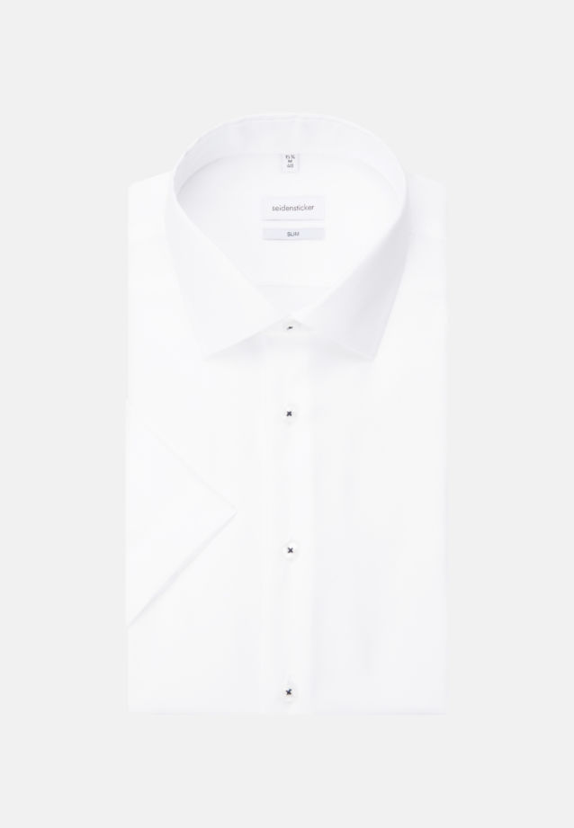 Non-iron Structure Short sleeve Business Shirt in Slim with Kent-Collar in White |  Seidensticker Onlineshop
