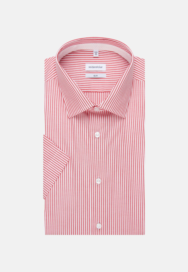 Non-iron Poplin Short sleeve Business Shirt in Slim with Kent-Collar in Red |  Seidensticker Onlineshop