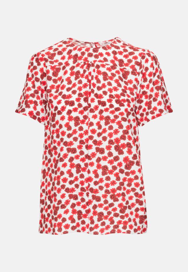 Kurzarm Krepp Shirtbluse aus 100% Viskose in Rosa/Pink |  Seidensticker Onlineshop