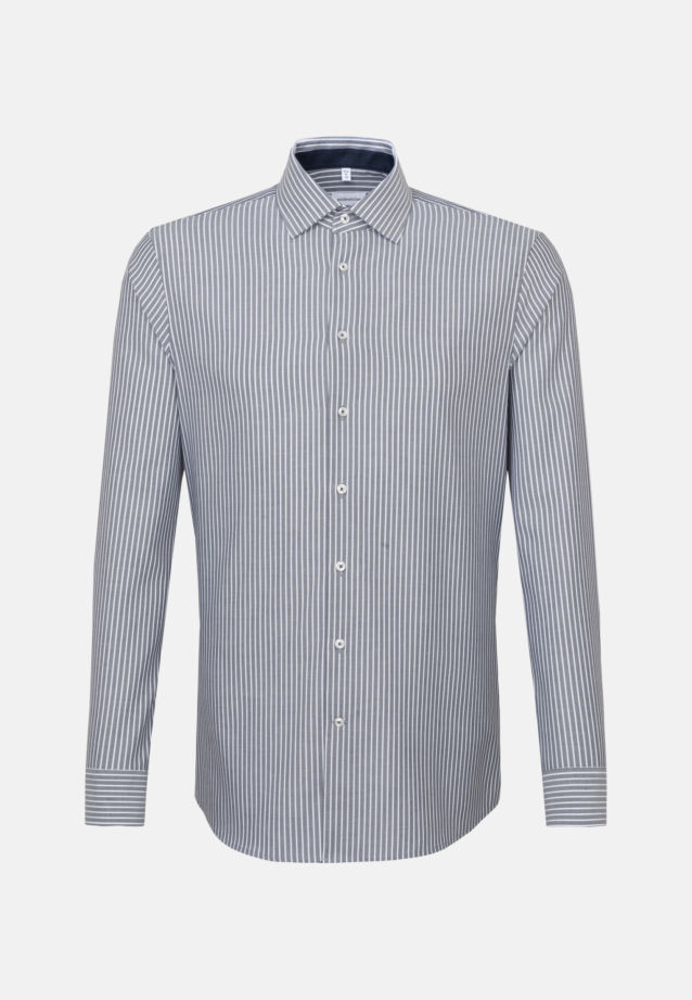 Non-iron Oxford Business Shirt in Slim with Kent-Collar in Dark blue |  Seidensticker Onlineshop
