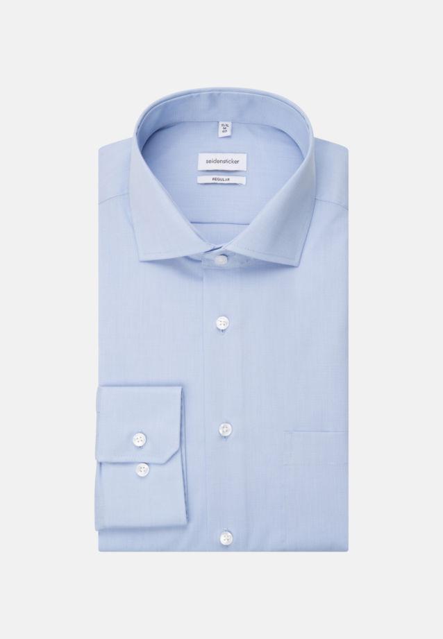 Bügelfreies Fil a fil Business Hemd in Regular mit Kentkragen in Hellblau |  Seidensticker Onlineshop