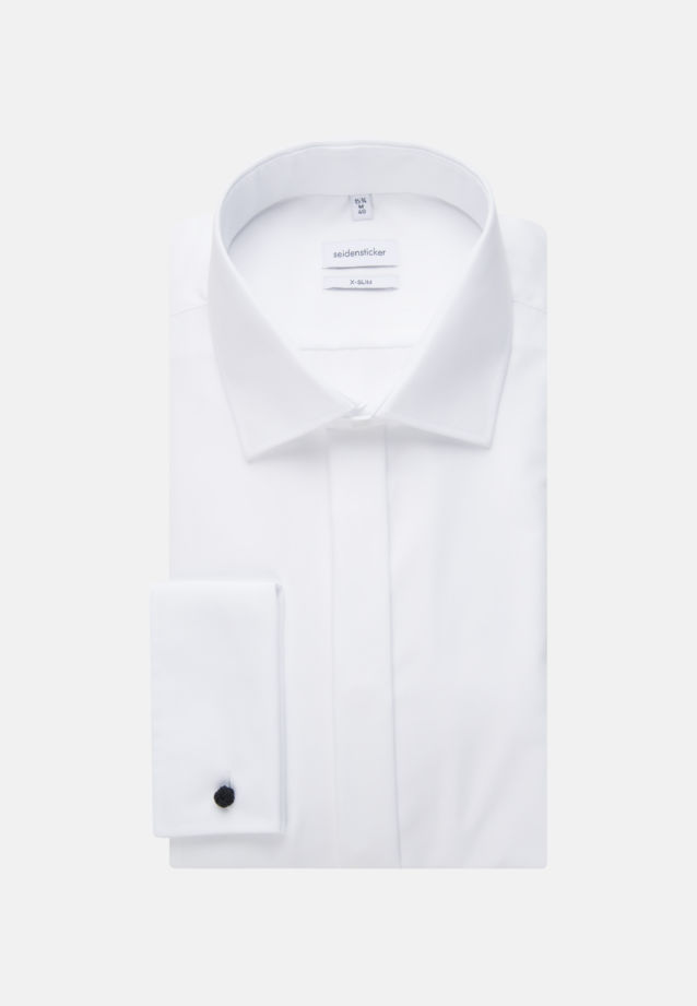 Non-iron Poplin Gala Shirt in X-Slim with Kent-Collar in White |  Seidensticker Onlineshop