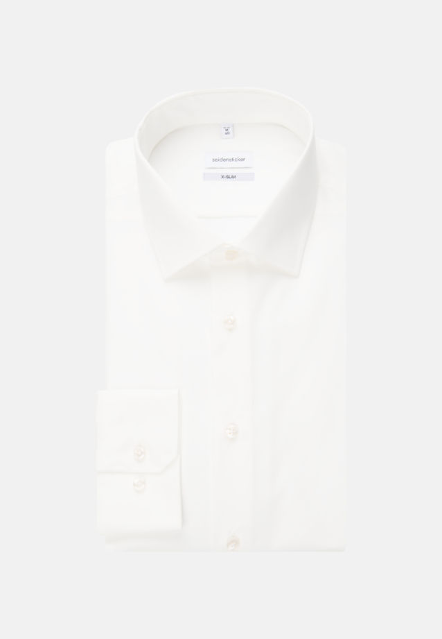 Non-iron Poplin Business Shirt in X-Slim with Kent-Collar in Ecru |  Seidensticker Onlineshop