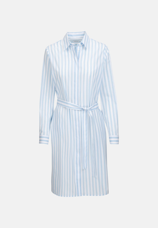 Poplin Midi Dress made of 100% Cotton in Light blue |  Seidensticker Onlineshop