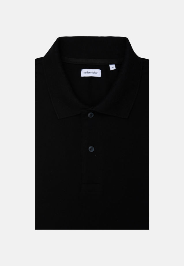 Polo-Shirt made of 100% Cotton in Black |  Seidensticker Onlineshop
