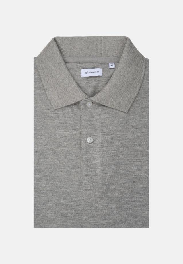 Kragen Polo-Shirt aus 100% Baumwolle in Grau |  Seidensticker Onlineshop