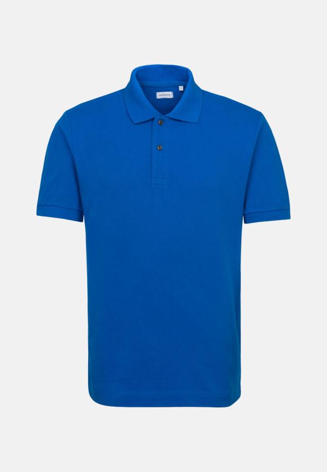 Kragen Polo-Shirt aus 100% Baumwolle in Mittelblau |  Seidensticker Onlineshop