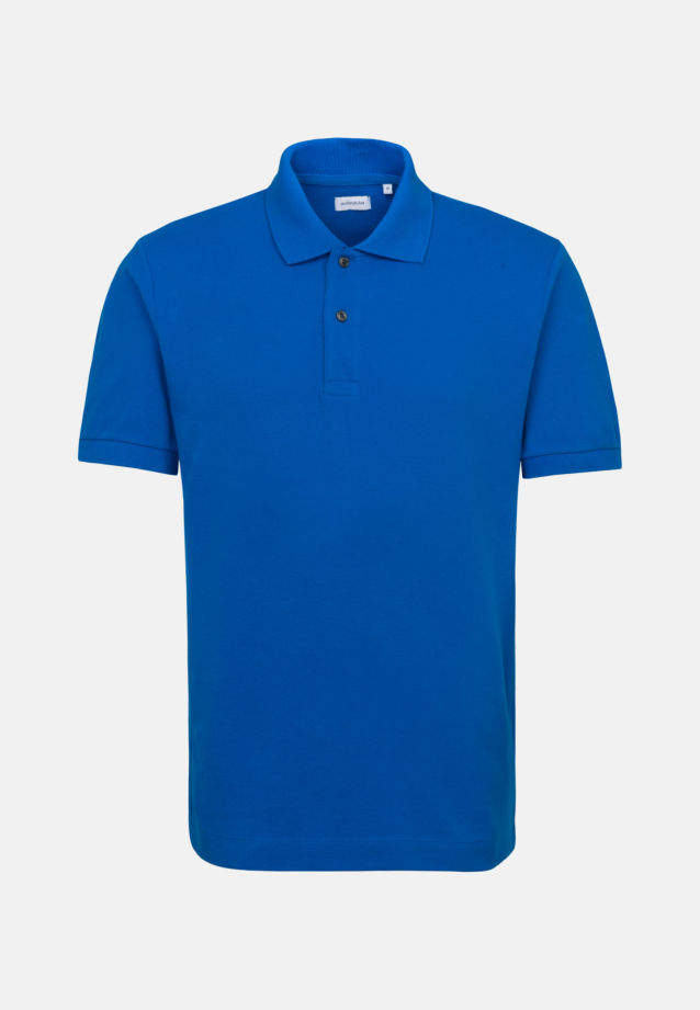 Collar Polo-Shirt made of 100% Cotton in Medium blue |  Seidensticker Onlineshop