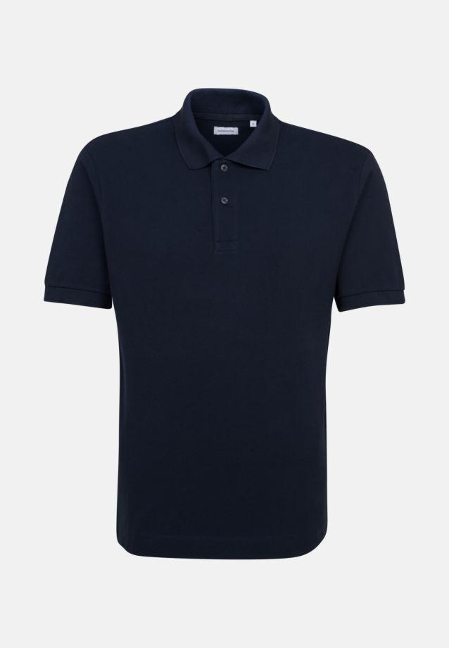 Collar Polo-Shirt made of 100% Cotton in Dark blue |  Seidensticker Onlineshop