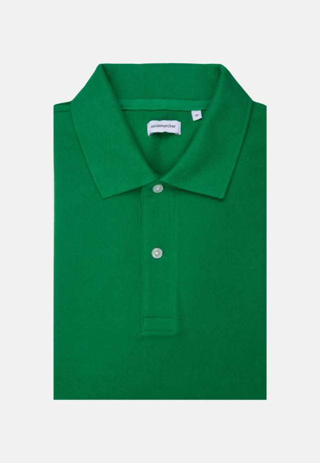 Collar Polo-Shirt made of 100% Cotton in Green |  Seidensticker Onlineshop