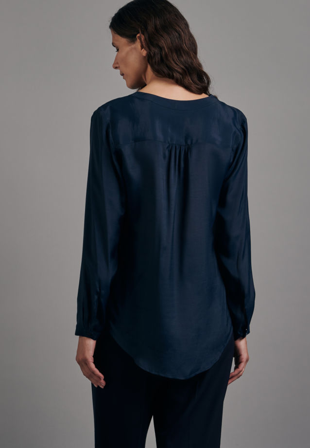 Voile Tunic made of 100% Viscose in Dark blue |  Seidensticker Onlineshop