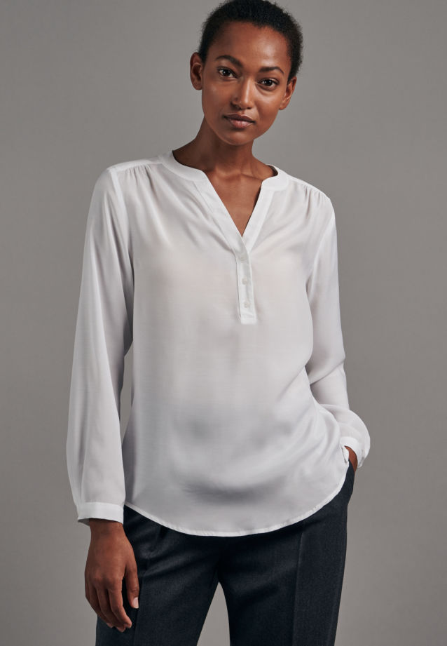 Voile Tunic made of 100% Viscose in White |  Seidensticker Onlineshop