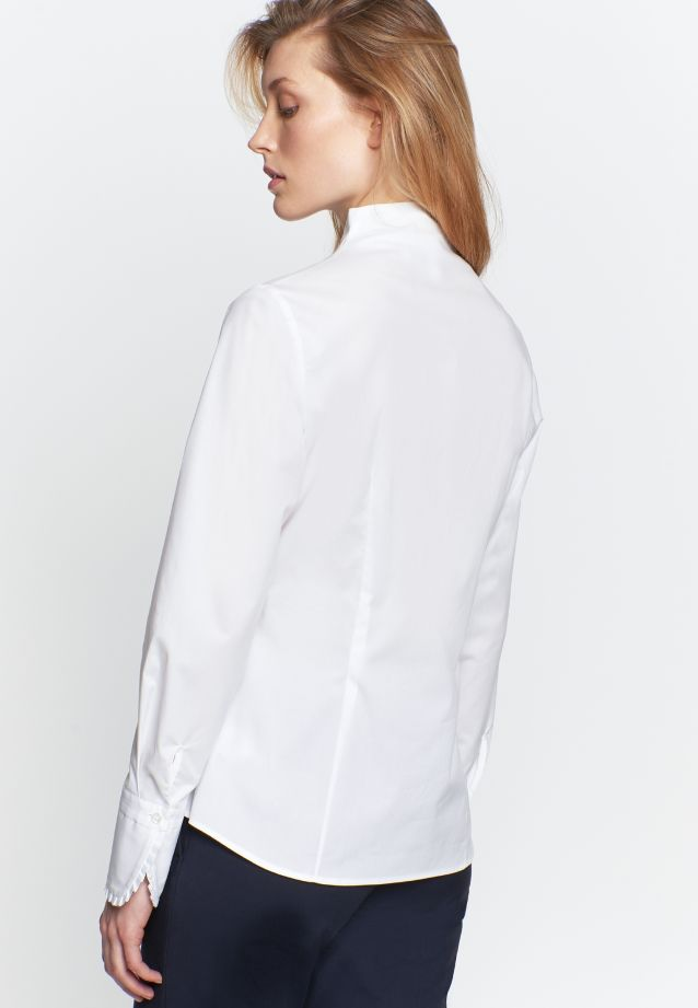 Poplin Chalice Blouse made of 96% Cotton 4% Elastane in White |  Seidensticker Onlineshop