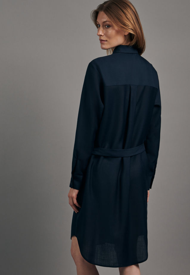 Gabardine Midi Kleid aus Wollmischung in Dunkelblau |  Seidensticker Onlineshop