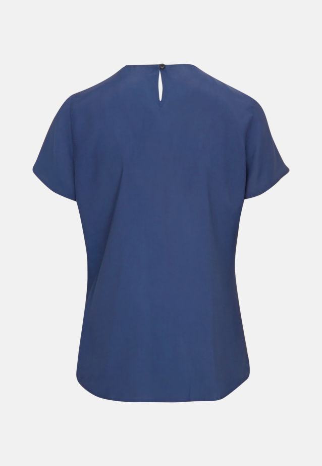 Short sleeve Voile Shirt Blouse made of 100% Viscose in Medium blue |  Seidensticker Onlineshop