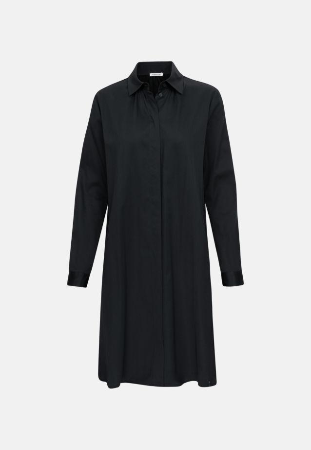 Satin Midi Dress made of cotton blend in Schwarz |  Seidensticker Onlineshop