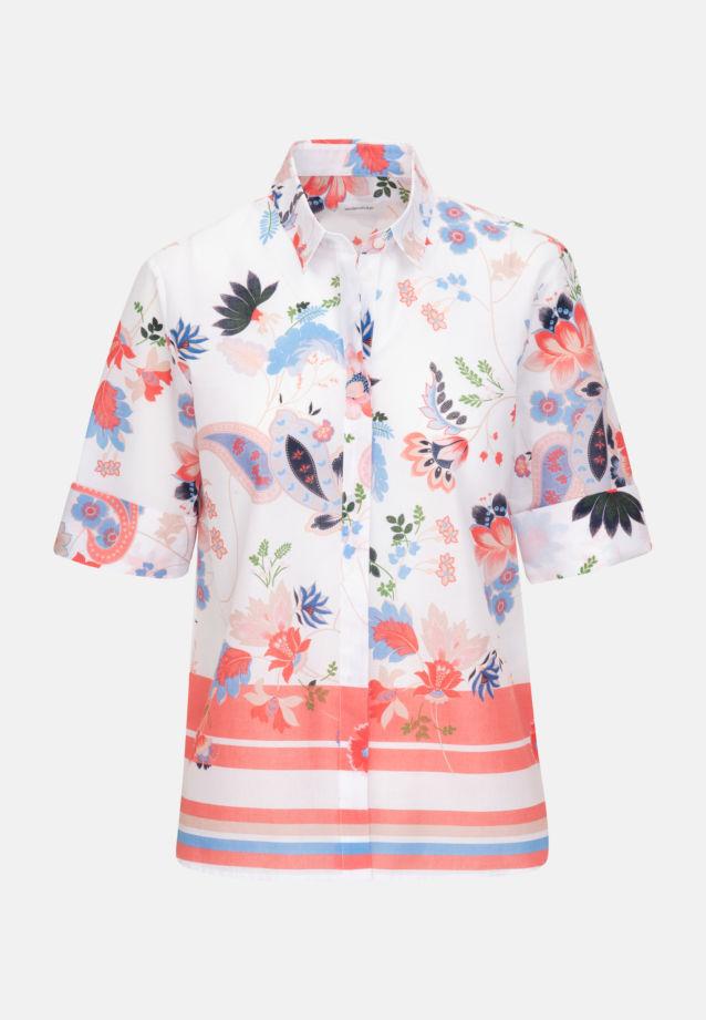 Kurzarm Popeline Hemdbluse aus 100% Baumwolle in Ecru |  Seidensticker Onlineshop