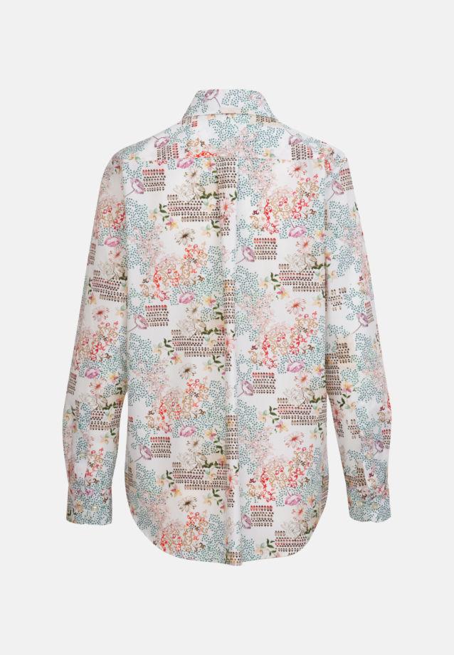 Structure Shirt Blouse made of 100% Cotton in Brown |  Seidensticker Onlineshop