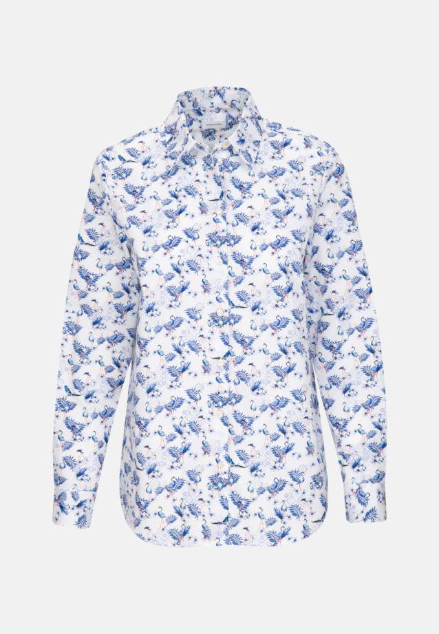 Struktur Hemdbluse aus 100% Baumwolle in Dunkelblau |  Seidensticker Onlineshop