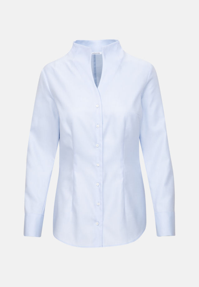 Twill Chalice Blouse made of 100% Cotton in Light blue |  Seidensticker Onlineshop