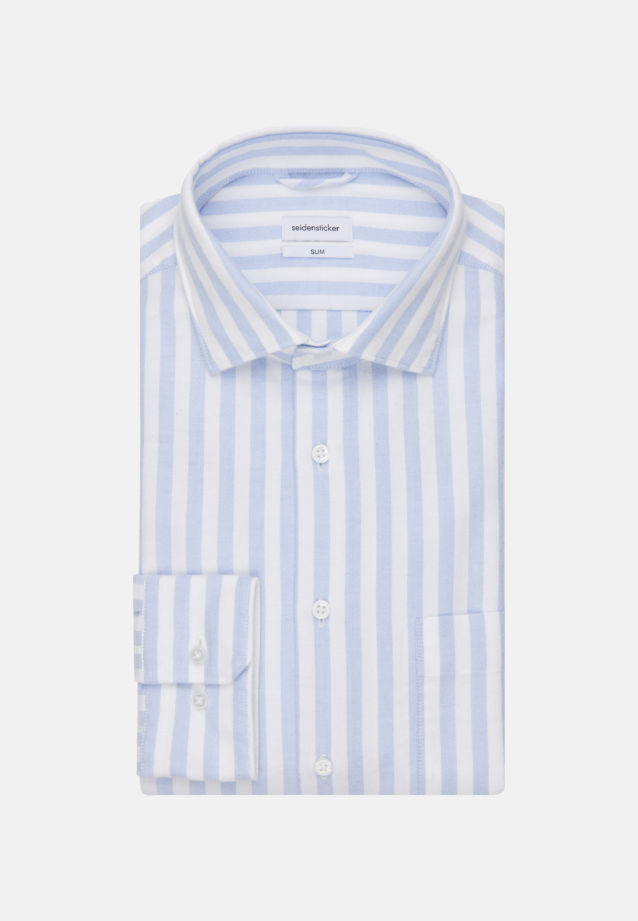 Oxford Business Shirt in Slim with Kent-Collar in Light blue |  Seidensticker Onlineshop