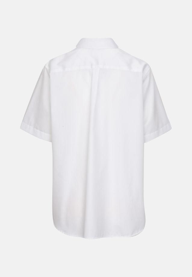 Short sleeve Satin Shirt Blouse made of 100% Cotton in White |  Seidensticker Onlineshop