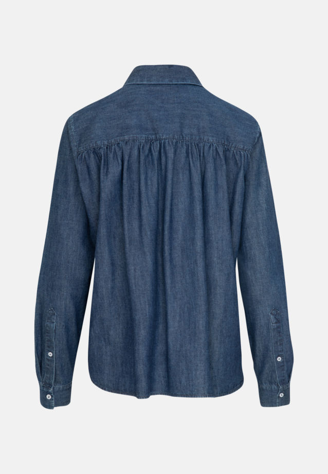 Denim Shirt Blouse made of 100% Cotton in Dark blue |  Seidensticker Onlineshop