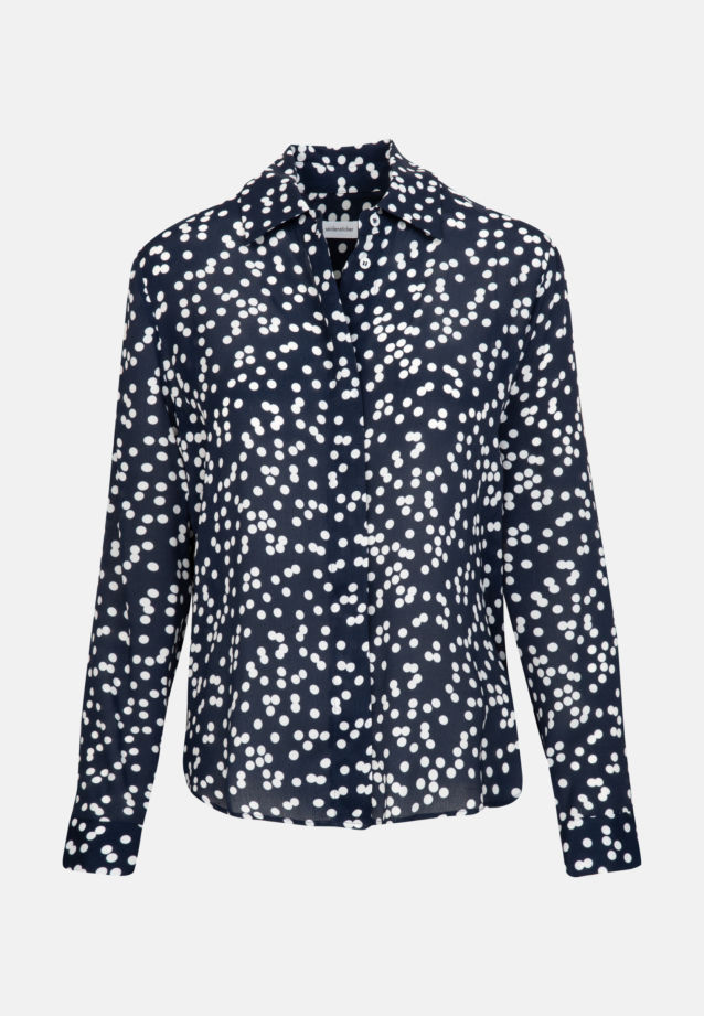 Crepe Shirt Blouse made of 100% Viscose in Dark blue |  Seidensticker Onlineshop