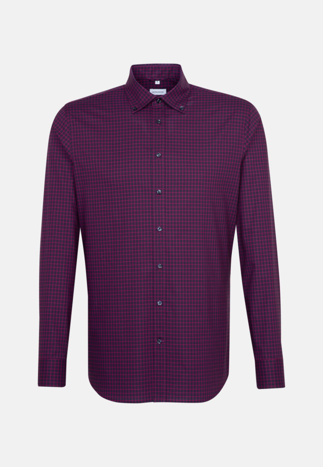 Non-iron Poplin Business Shirt in Shaped with Button-Down-Collar in Pink |  Seidensticker Onlineshop