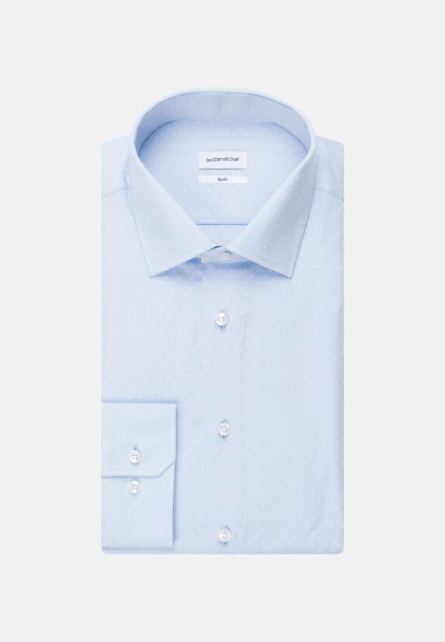 Easy-iron Poplin Business Shirt in Slim with Kent-Collar in Light blue |  Seidensticker Onlineshop