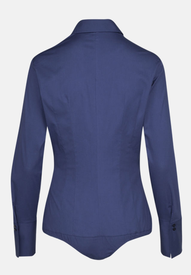 Poplin Body Blouse made of 96% Cotton 4% Elastane in marine |  Seidensticker Onlineshop