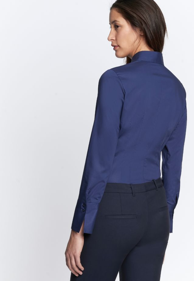 Poplin Body Blouse made of 96% Cotton 4% Elastane in Dark blue |  Seidensticker Onlineshop