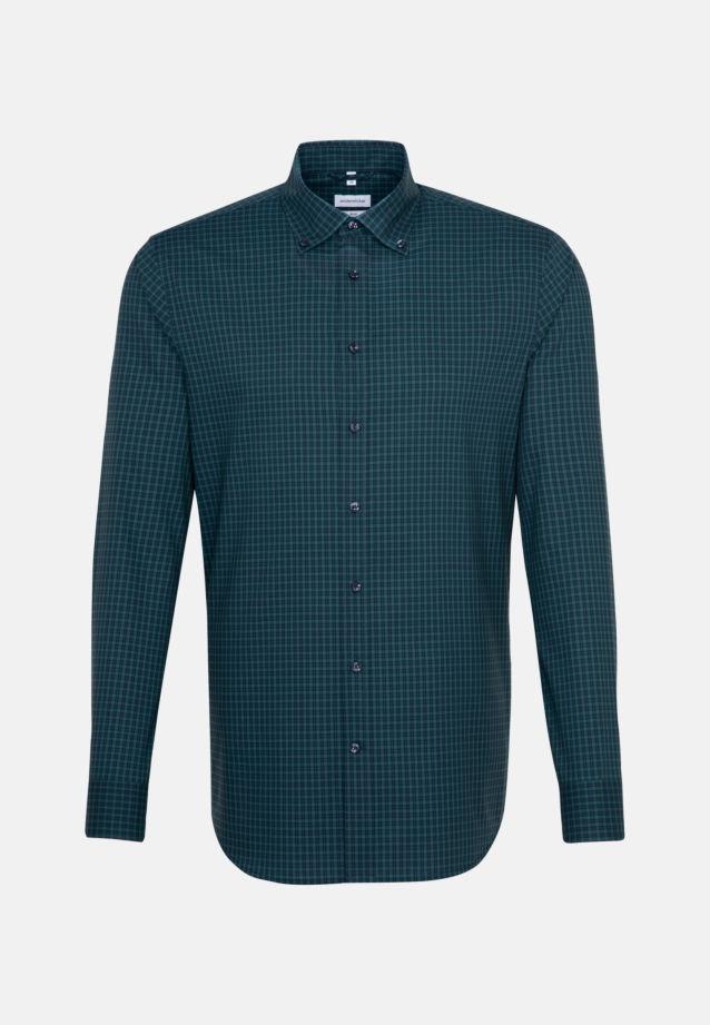 Bügelfreies Popeline Business Hemd in Slim mit Button-Down-Kragen in Grün |  Seidensticker Onlineshop