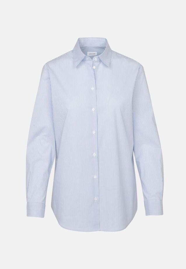 Poplin Shirt Blouse made of cotton blend in Light blue |  Seidensticker Onlineshop