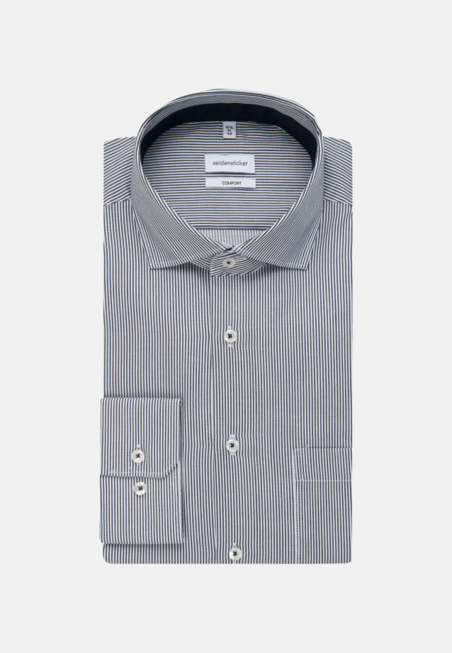 Non-iron Twill Business Shirt in Comfort with Kent-Collar in Dark blue |  Seidensticker Onlineshop