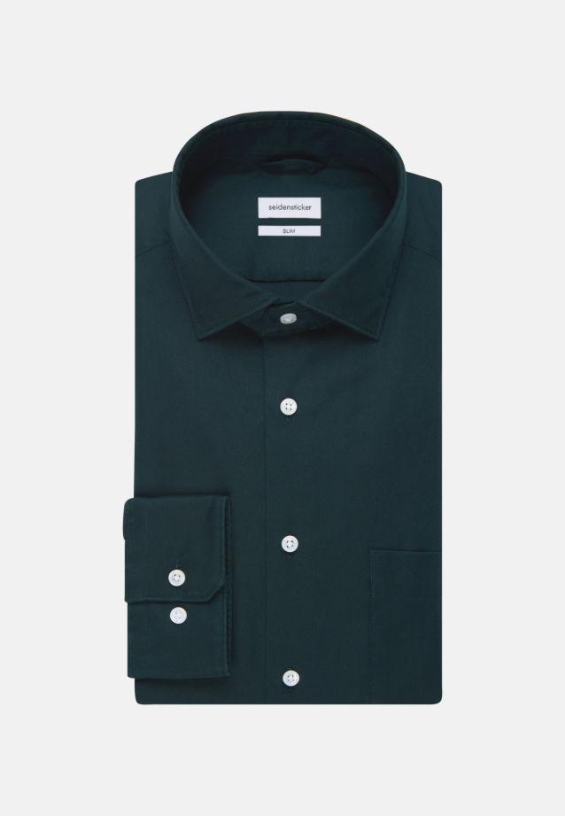 Twill Business Shirt in Slim with Kent-Collar in Green |  Seidensticker Onlineshop